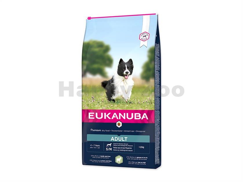 EUKANUBA Adult Small & Medium Lamb 12kg