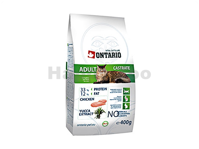 ONTARIO Cat Adult Castrate 400g
