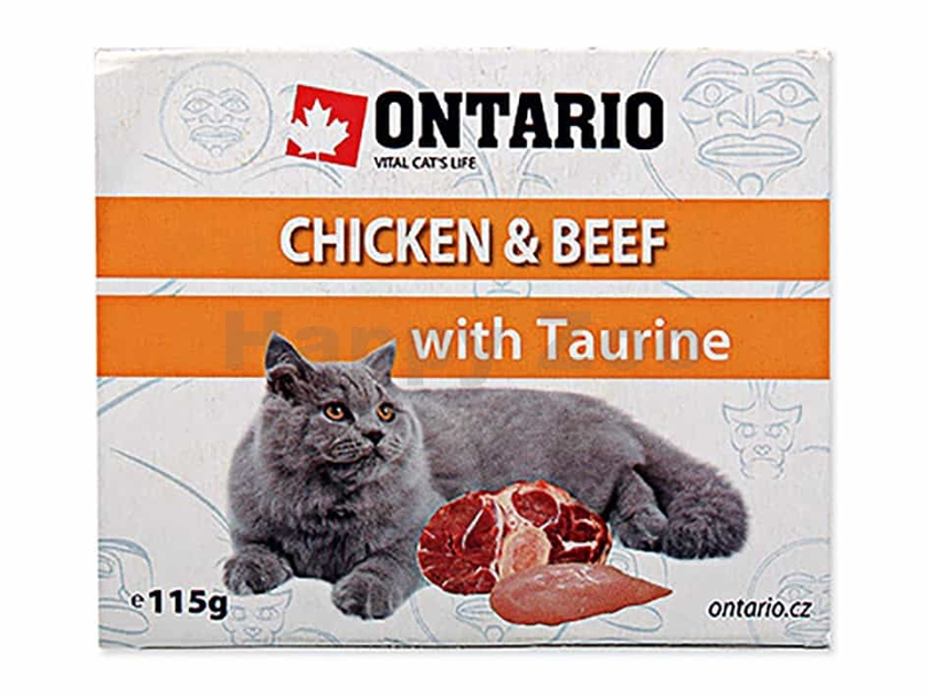 Paštika ONTARIO Cat Chicken & Beef with Taurine 115g