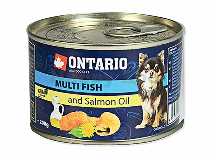 Konzerva ONTARIO Dog Adult Mini Multi Fish & Salmon Oil 200g