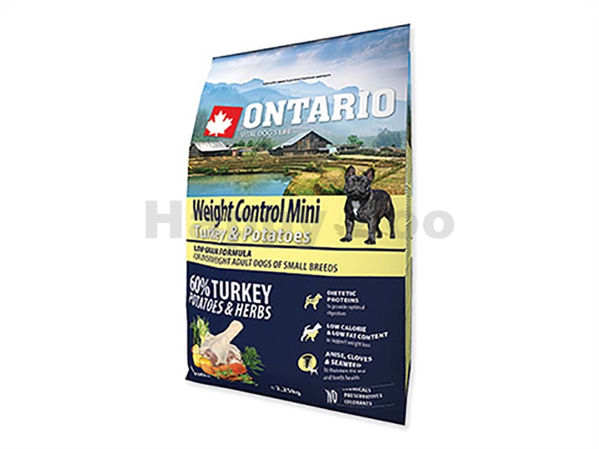 ONTARIO Adult Mini Weight Control Turkey 2,25kg