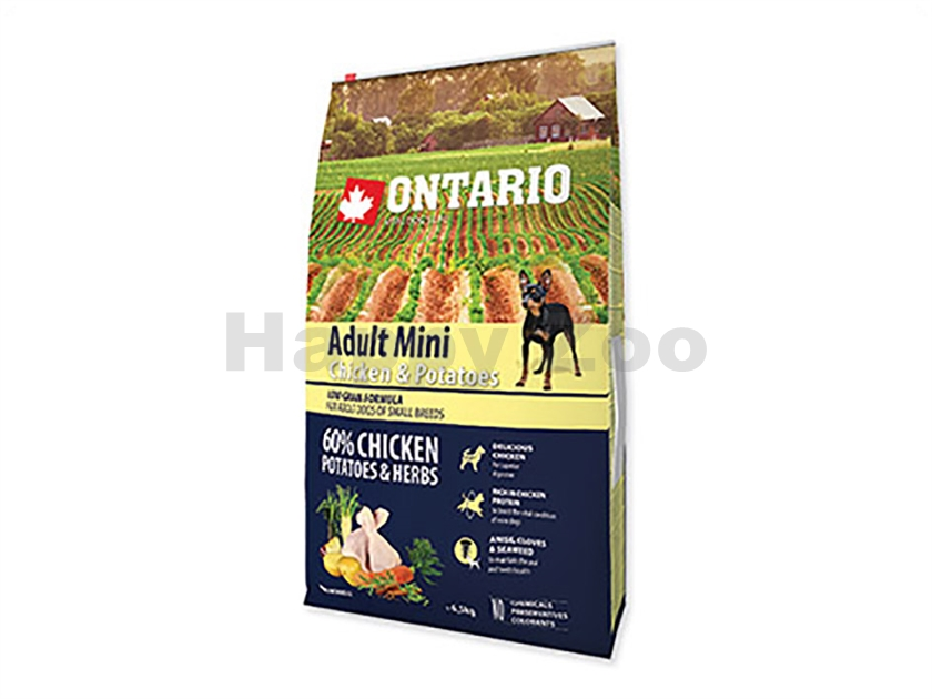 ONTARIO Adult Mini Chicken & Herbs 6,5kg