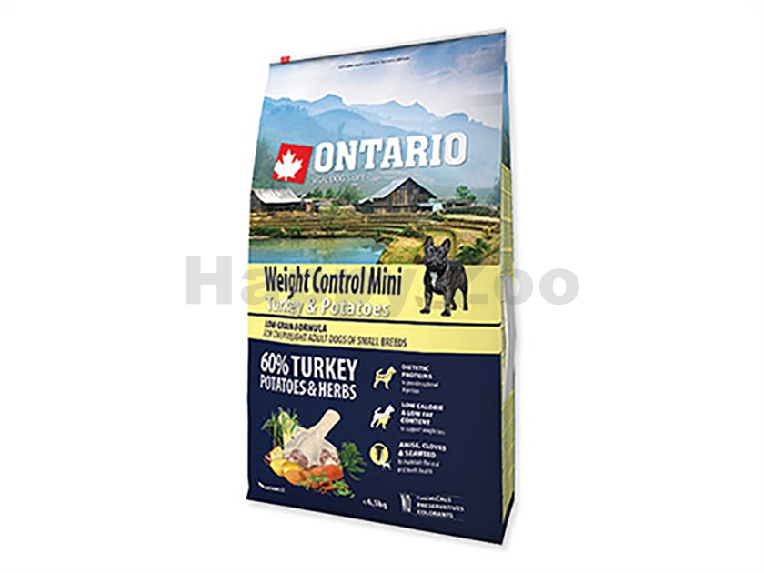 ONTARIO Adult Mini Weight Control Turkey 6,5kg