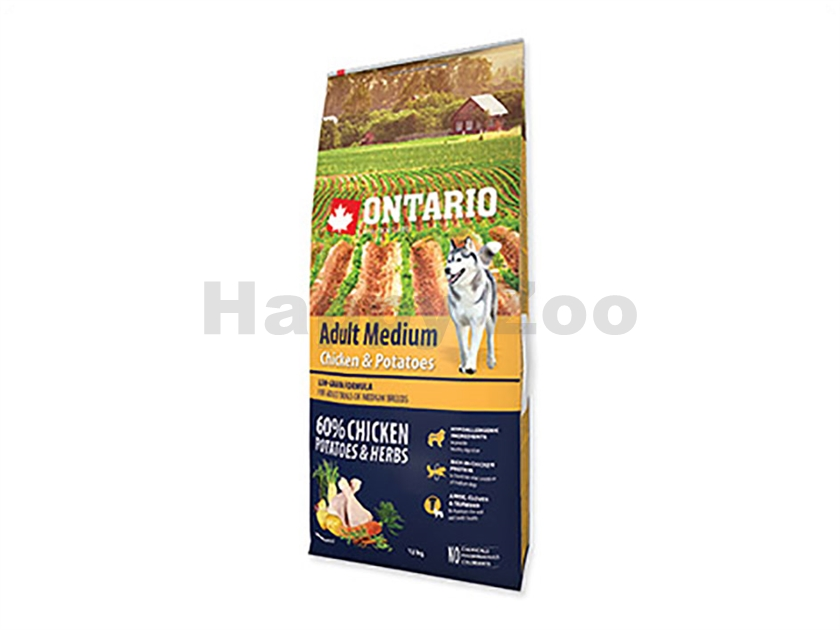 ONTARIO Adult Medium Chicken & Herbs 12kg