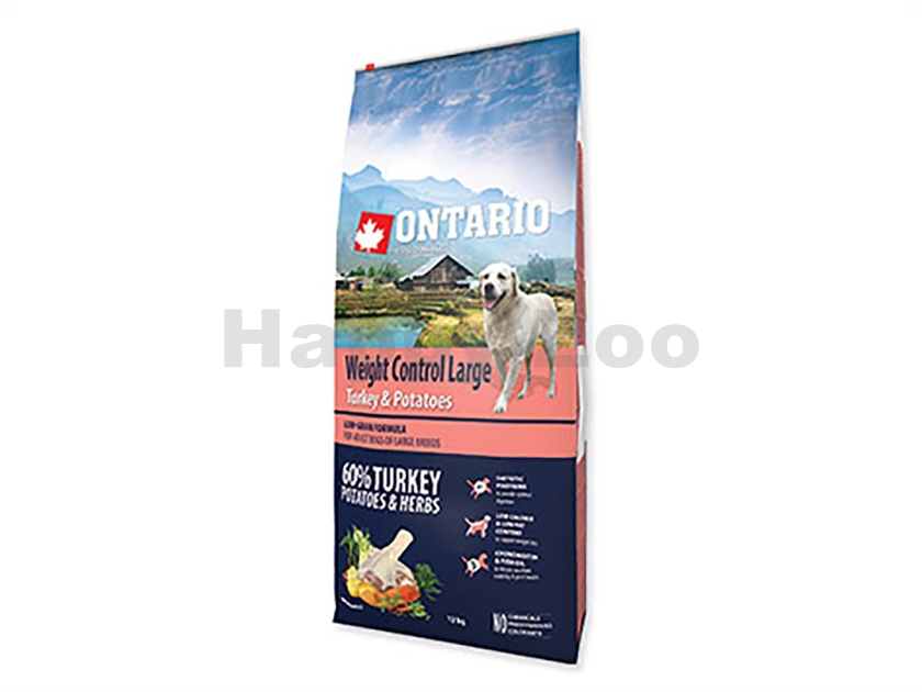 ONTARIO Adult Large Weight Control Turkey 12kg