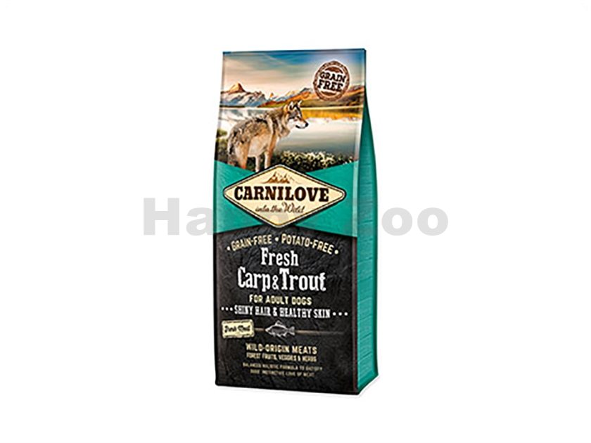 CARNILOVE Dog Fresh Carp & Trout for Adult Dogs 12kg