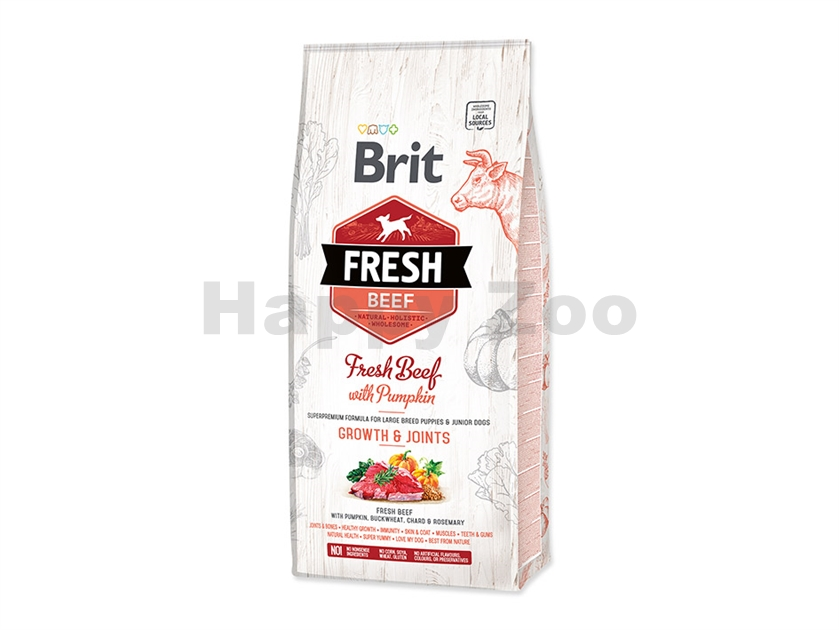 BRIT Fresh Beef with Pumpkin Puppy Large Growth & Joints 12kg