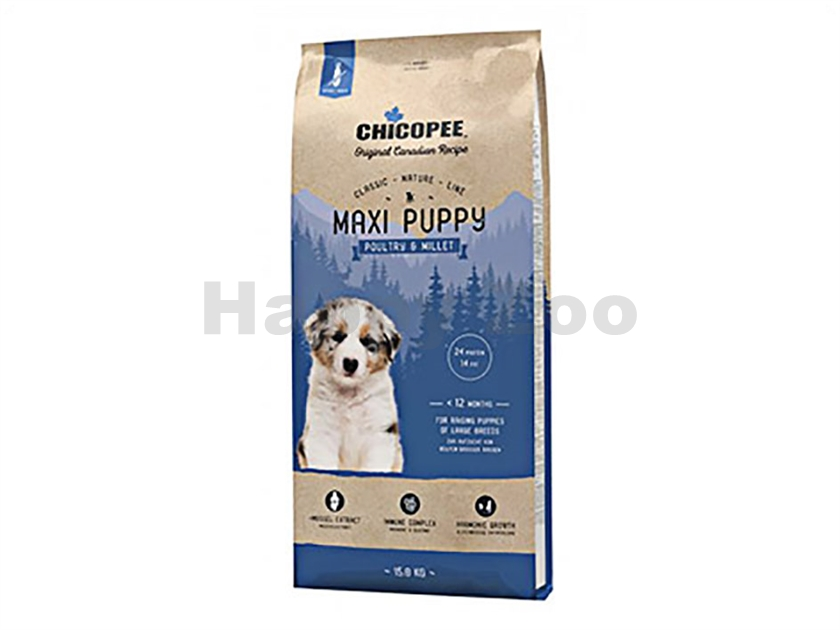 CHICOPEE Classic Nature Maxi Puppy Poultry & Millet 15kg