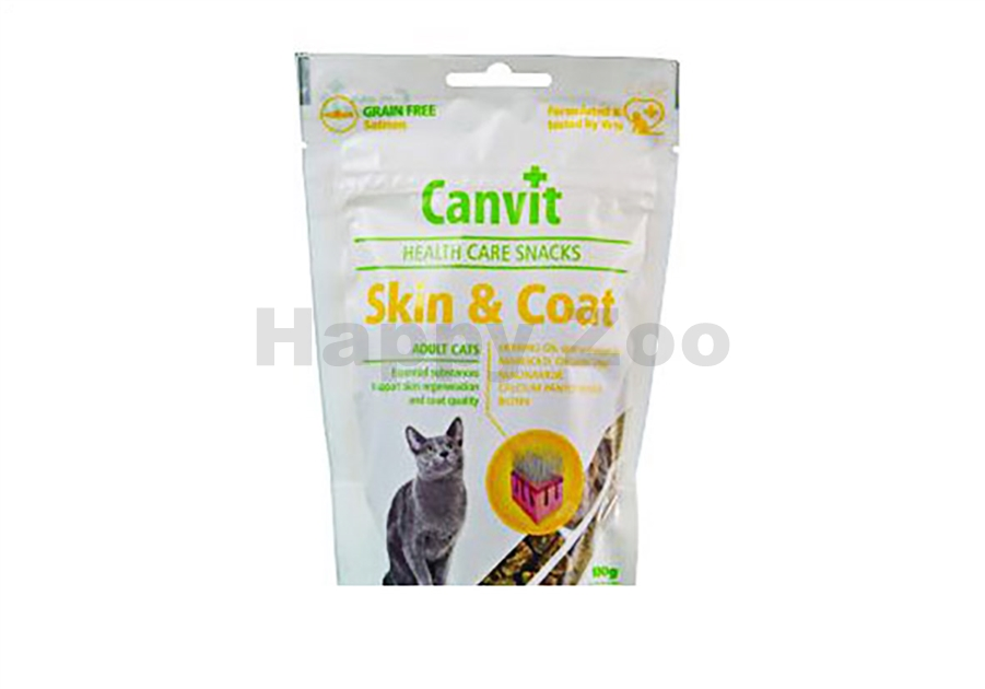 CANVIT Cat Snacks Skin & Coat 100g