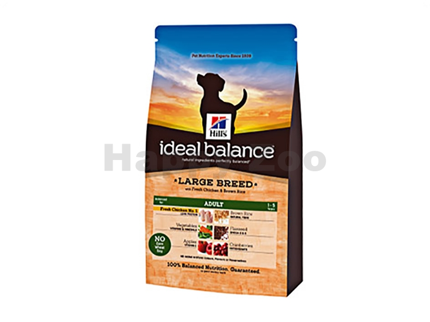 HILLS Ideal Balance Canine Adult Large Breed Chicken and Brown R