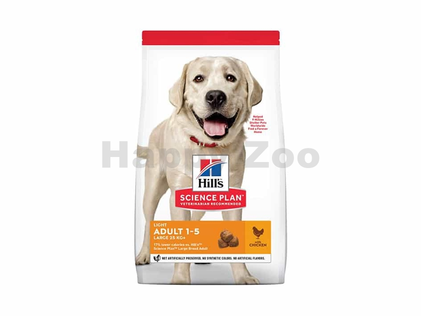 HILLS Canine Adult Light Large Breed Chicken 2,5kg