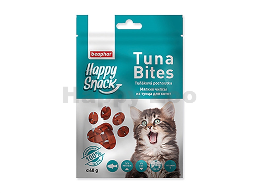 BEAPHAR Happy Snack Cat Tuna Bites 40g