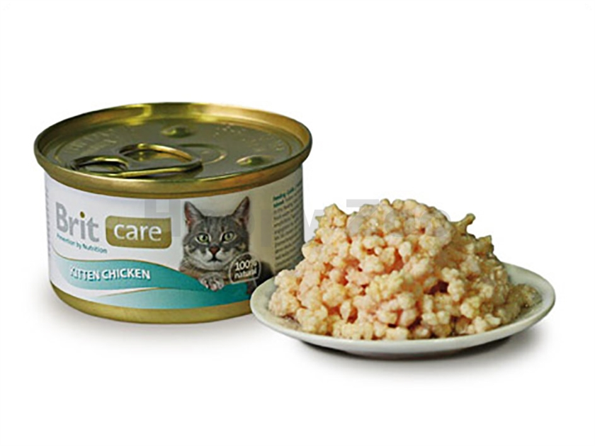 Konzerva BRIT CARE Cat Kitten - Chicken 80g