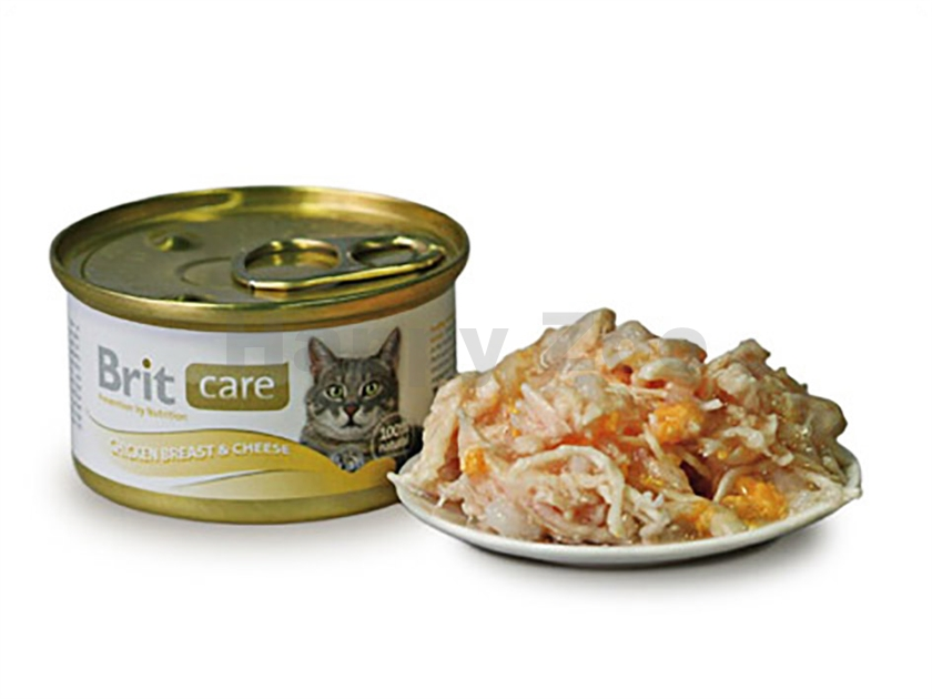 Konzerva BRIT CARE Cat - Chicken Breast and Cheese 80g
