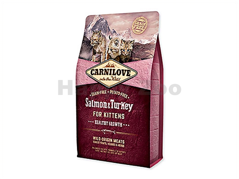CARNILOVE Cat Salmon & Turkey for Kittens Healthy Growth 2kg