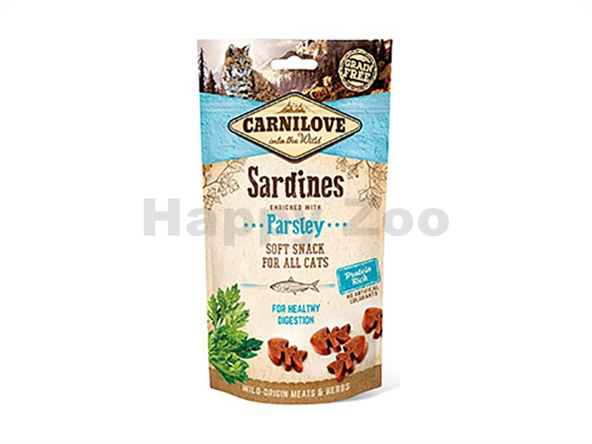 CARNILOVE Cat Soft Snack Sardine with Parsley 50g