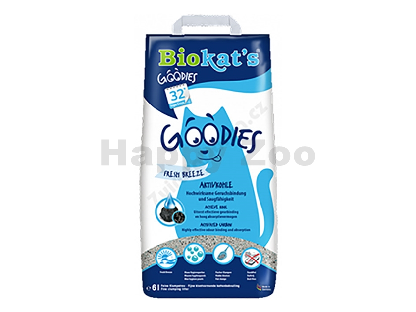 BIOKATS Goodies Fresh Breeze (s aktivním uhlím) 6l