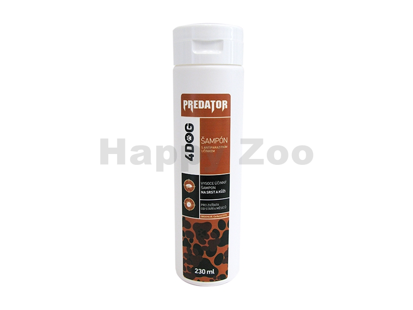 Antiparazitní šampón PREDATOR 4DOG 250ml