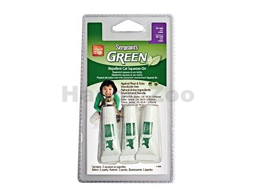 SERGEANT´S Green Spot-on Cat 3x1,5ml
