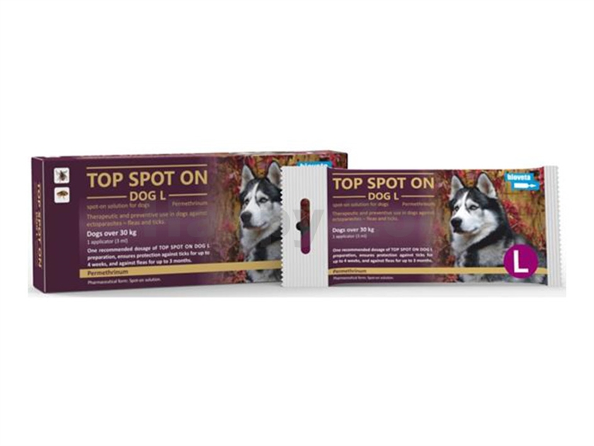 TOP Spot-on Dog (L) 1x3ml (pro psy nad 30kg)