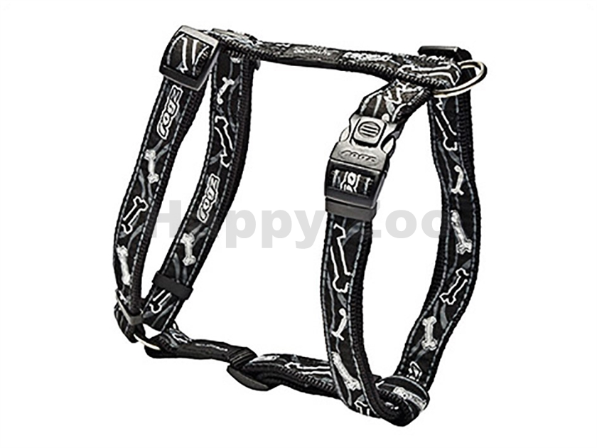 Postroj ROGZ Fancy Dress SJ 03 CB-Black Bones (L) 2x29-64x45-75cm