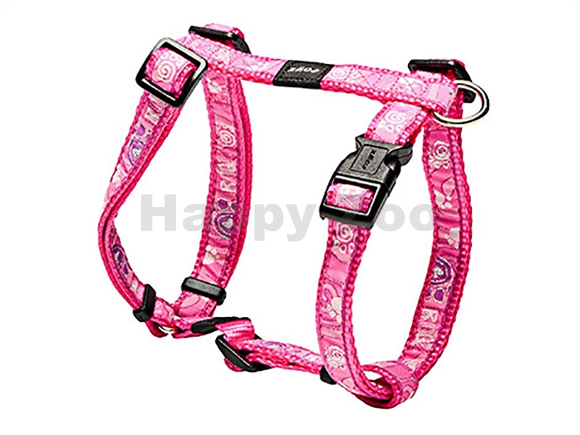 Postroj ROGZ Fancy Dress SJ 12 CA-Pink Paws (M) 1,6x28-46x32-52cm