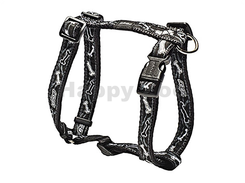 Postroj ROGZ Fancy Dress SJ 12 CB-Black Bones (M) 1,6x28-46x32-5