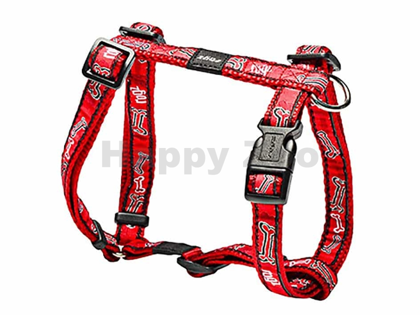 Postroj ROGZ Fancy Dress SJ 12 CC-Red Bones (M) 1,6x28-46x32-52c