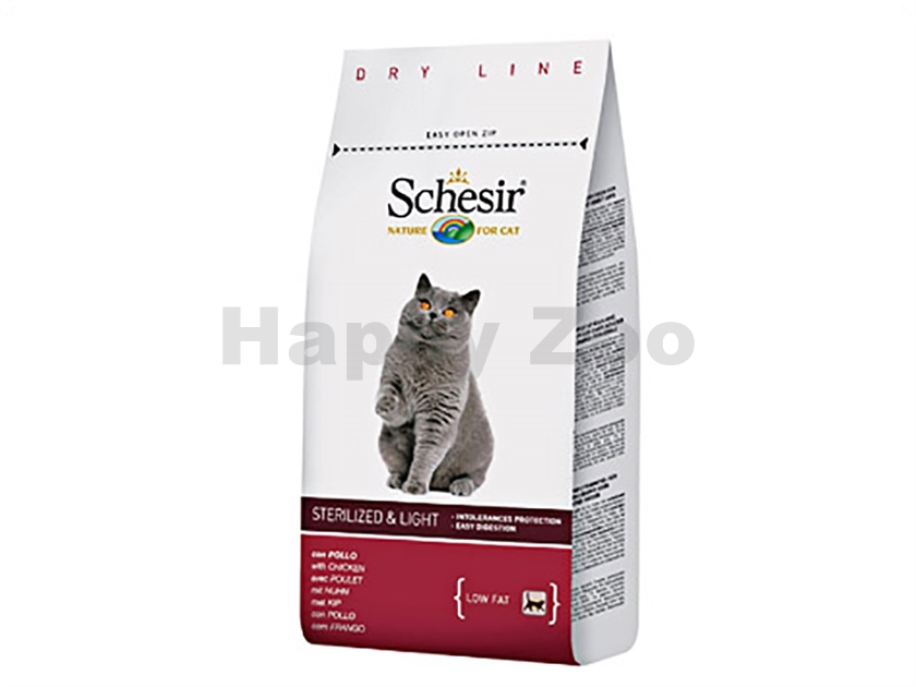 SCHESIR Cat Sterilized and Overweight 1,5kg
