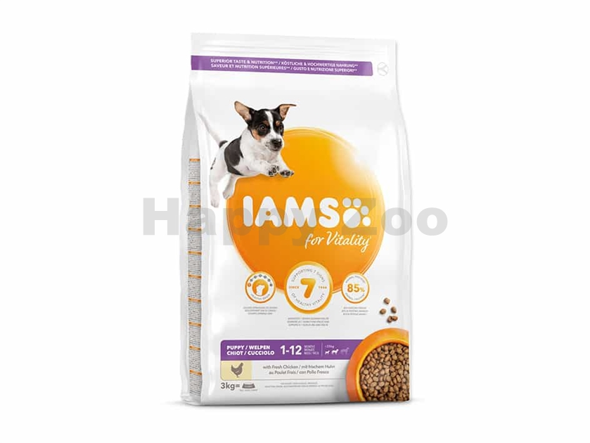 IAMS for Vitality Dog Puppy Small & Medium Chicken 3kg