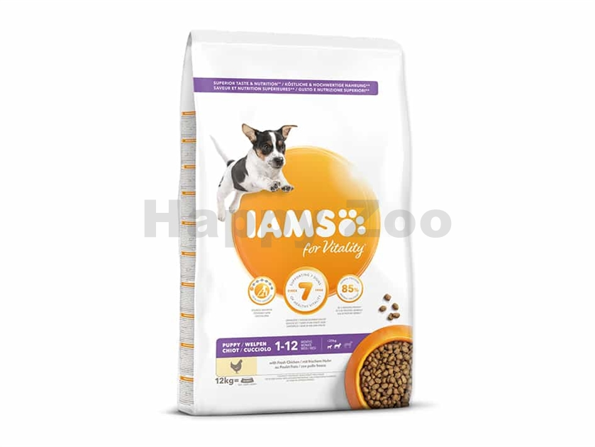 IAMS for Vitality Dog Puppy Small & Medium Chicken 12kg