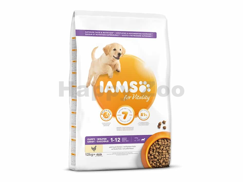 IAMS for Vitality Dog Puppy Large Chicken 12kg