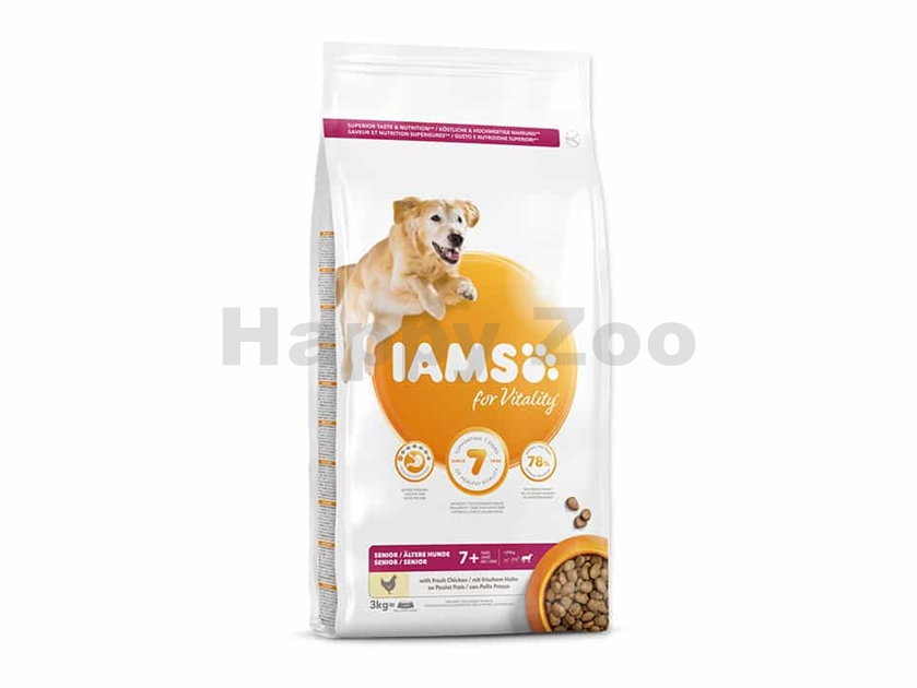 IAMS for Vitality Dog Senior Large Chicken 3kg