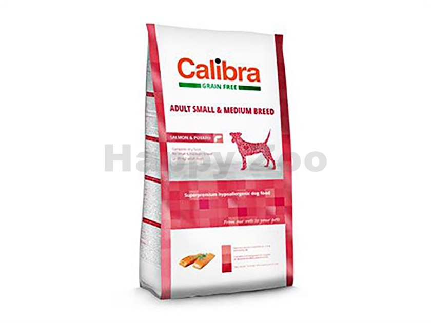 CALIBRA Dog Grain Free Adult Small & Medium Breed Salmon & Potat