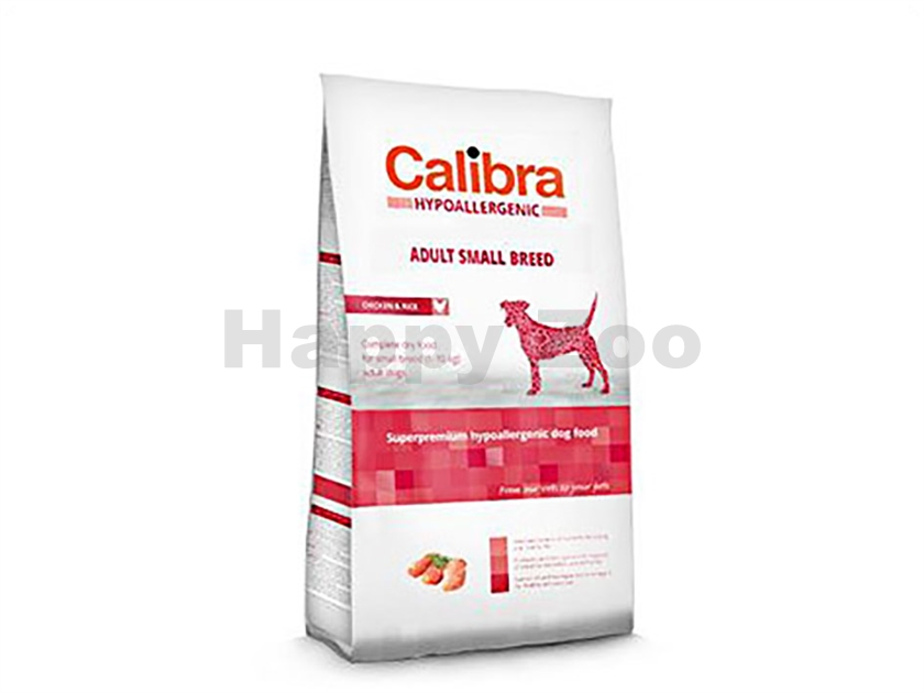 CALIBRA Dog Hypoallergenic Adult Small Breed Chicken & Rice 2kg