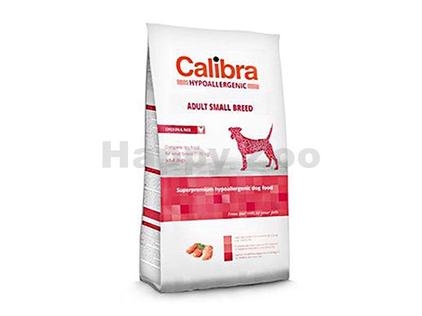 CALIBRA Dog Hypoallergenic Adult Small Breed Chicken & Rice 7kg