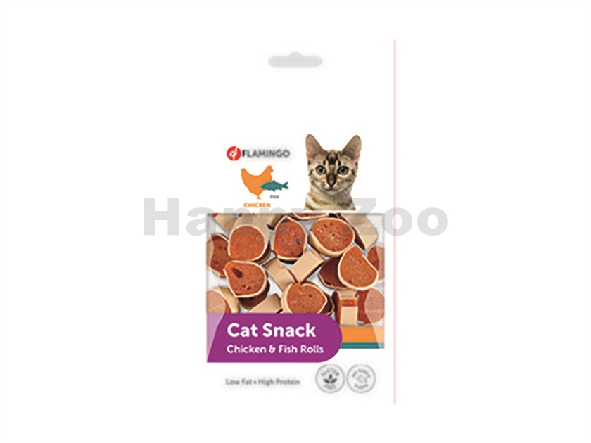 FLAMINGO Cat Snack Chicken & Fish Rolls 50g