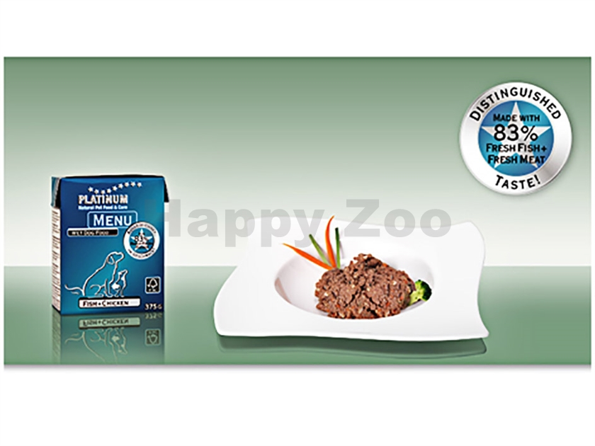 Konzerva PLATINUM Menu Fish and Chicken 385g
