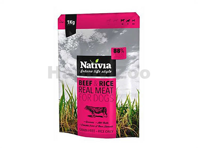NATIVIA Real Meat Beef & Rice 8kg