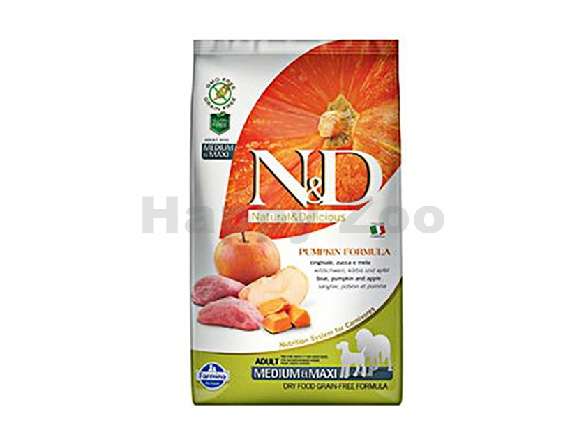N&D Grain Free Pumpkin Dog Adult Medium/Maxi Boar & Apple 2,5kg