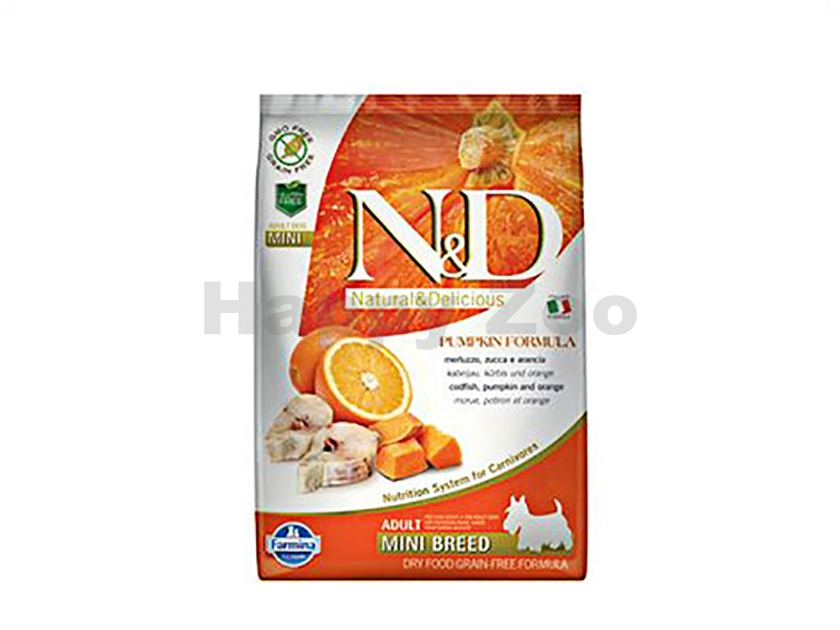 N&D Grain Free Pumpkin Dog Adult Mini Codfish & Orange 7kg