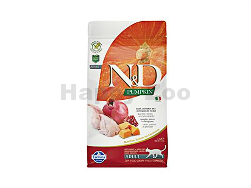N&D Grain Free Pumpkin Cat Adult Quail & Pomegranate 300g