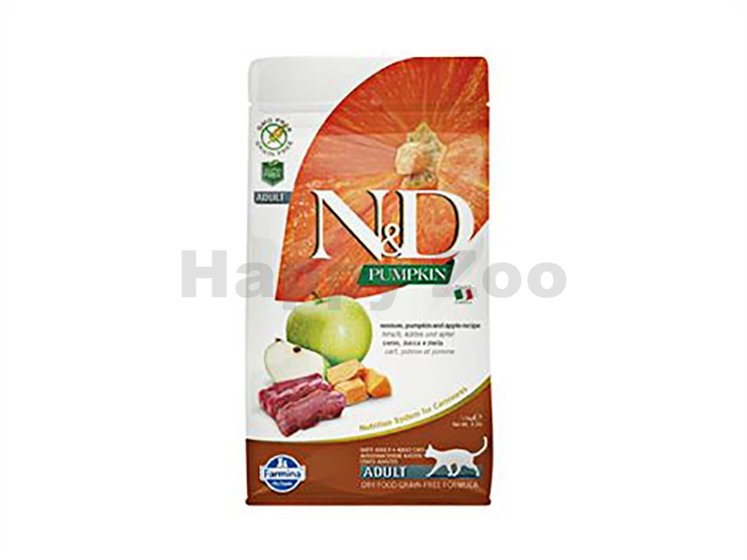 N&D Grain Free Pumpkin Cat Adult Venison & Apple 1,5kg