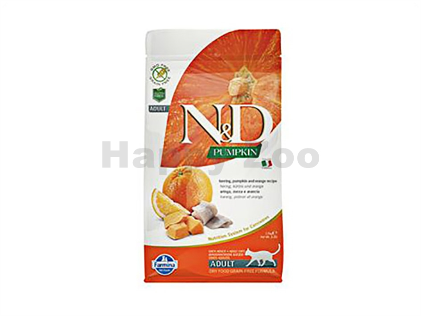 N&D Grain Free Pumpkin Cat Adult Herring & Orange 1,5kg