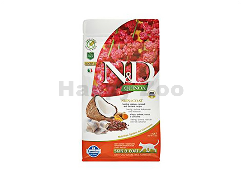N&D Grain Free Quinoa Cat Skin & Coat Herring & Coconut 1,5kg