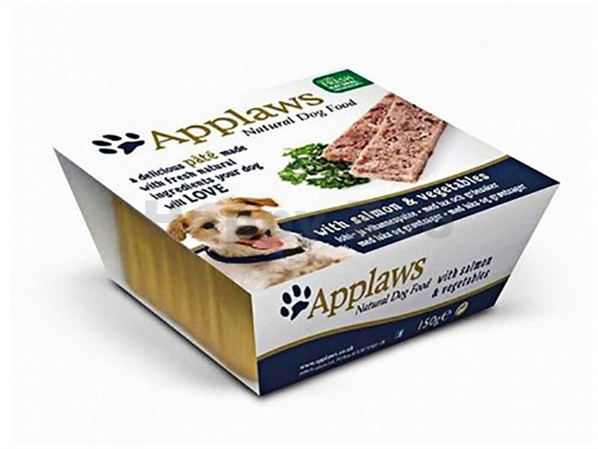 Paštika APPLAWS Dog - losos a zelenina 150g