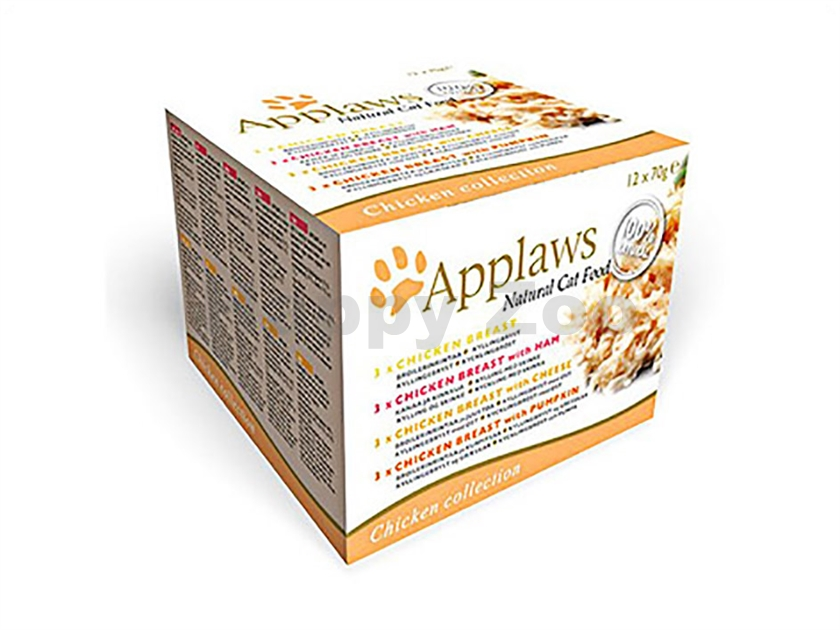 Multipack konzerva APPLAWS Cat - Chicken Selection 12x70g