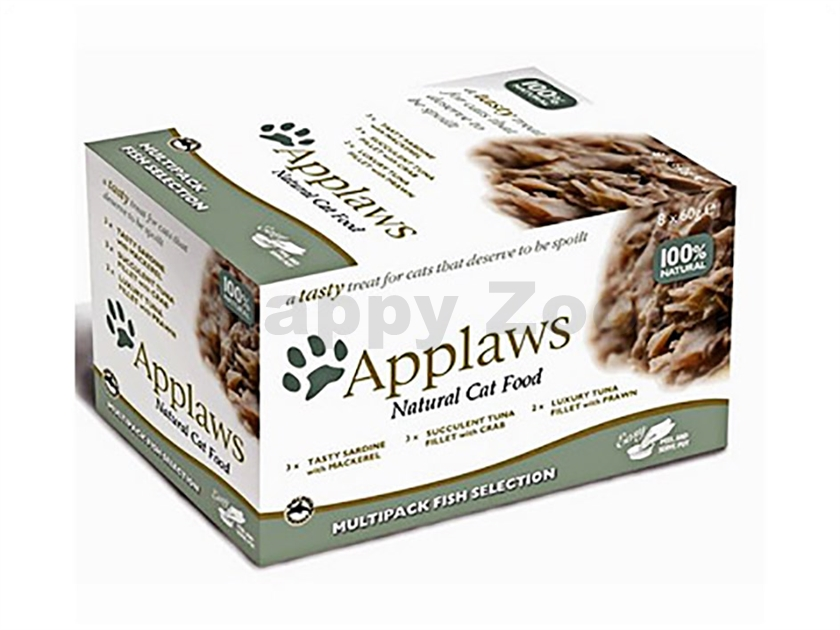 Multipack miska APPLAWS Cat - Fish Selection 8x60g