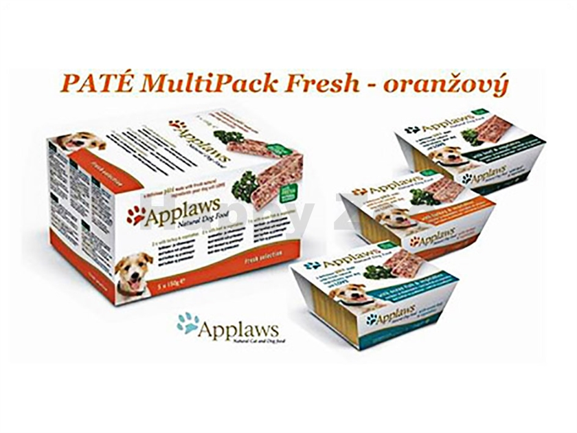 Multipack paštika APPLAWS Dog - Fresh Orange 5x150g