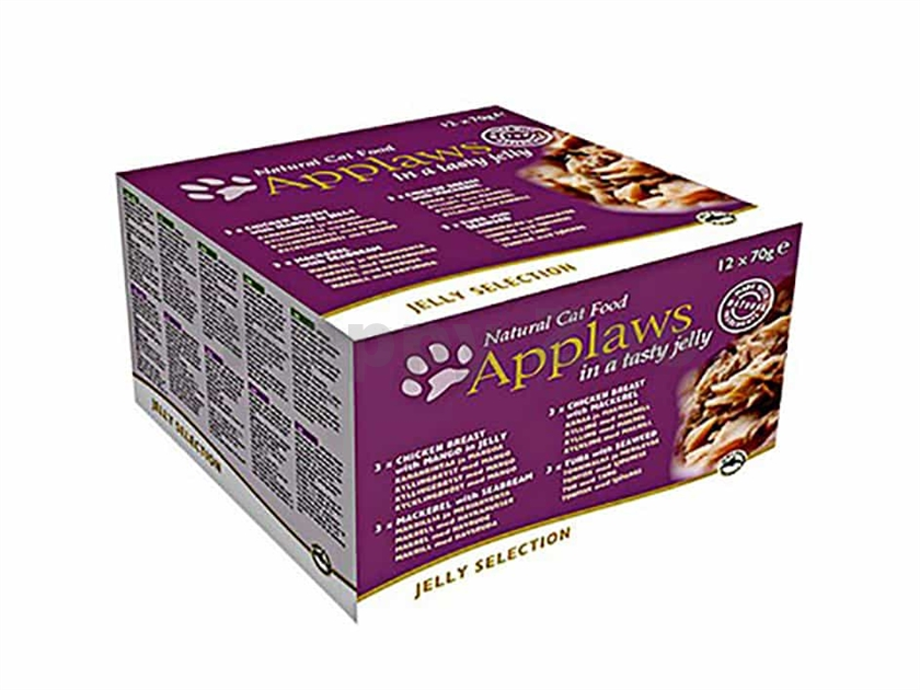 Multipack konzerva APPLAWS Cat - Jelly Selection 12x70g